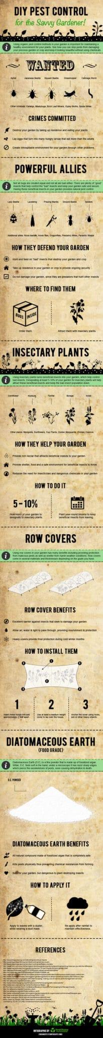 DIY organic garden pest control infographic